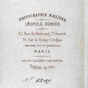 Références : Poupardin, Marc ; Poupardin, Marguerite, née Hofer ; Poupardin, Paul ; Thierry-Mieg, Paul ; _?Paris07 (Maujean et Léopold Dubois)