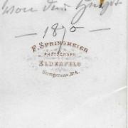 Références : De Geer, Selma, née von der Heydt