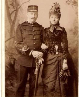 Kœchlin, Émile et Élisabeth, née Claudon (format 135x100) (mai 1885)