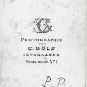 Références : Jacquinet (1871) ; Mény, Georges (1871) ; Poupardin, Paul (1871) ;  _?Suisse02 (Interlaken, C. Gölz)